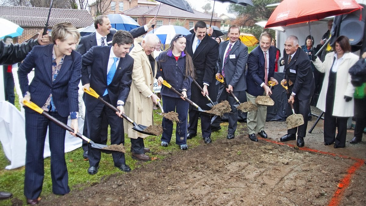 HOME Turning the sod