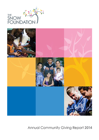 The SF Annual Community Giving Report 2014 Cover