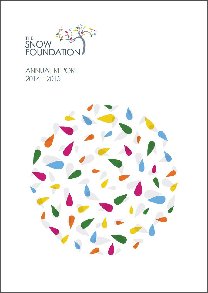 The Snow Foundation Annual Report 2014-2015 Cover