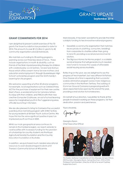 The SF Grants Commitments for 2014 Cover
