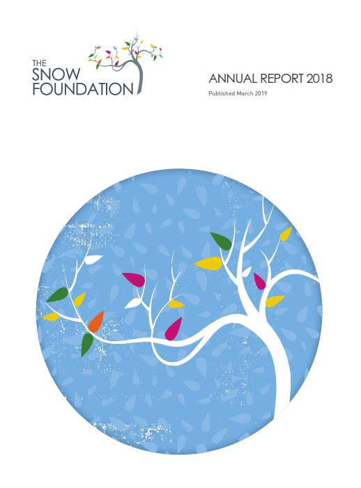 The Snow Foundation Annual Report 2018 Cover
